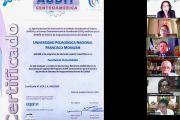 OTORGAN CERTIFICADO INTERNACIONAL EN CALIDAD DE LA FORMACIÓN SUPERIOR A LA UPNFM