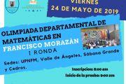 Olimpiada Departamental de Matemáticas en Francisco Morazán I RONDA reprogramación