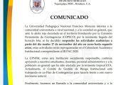 COMUNICADO ANTE ALERTA POR HURACÁN IOTA